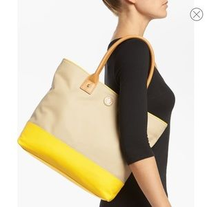 Jaden Dipped Canvas Tote TORY BURCH color block